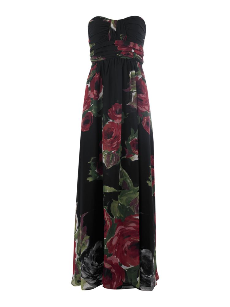 Linea-Strapless-Rose-Maxi-Dress-In-Multi-Coloured