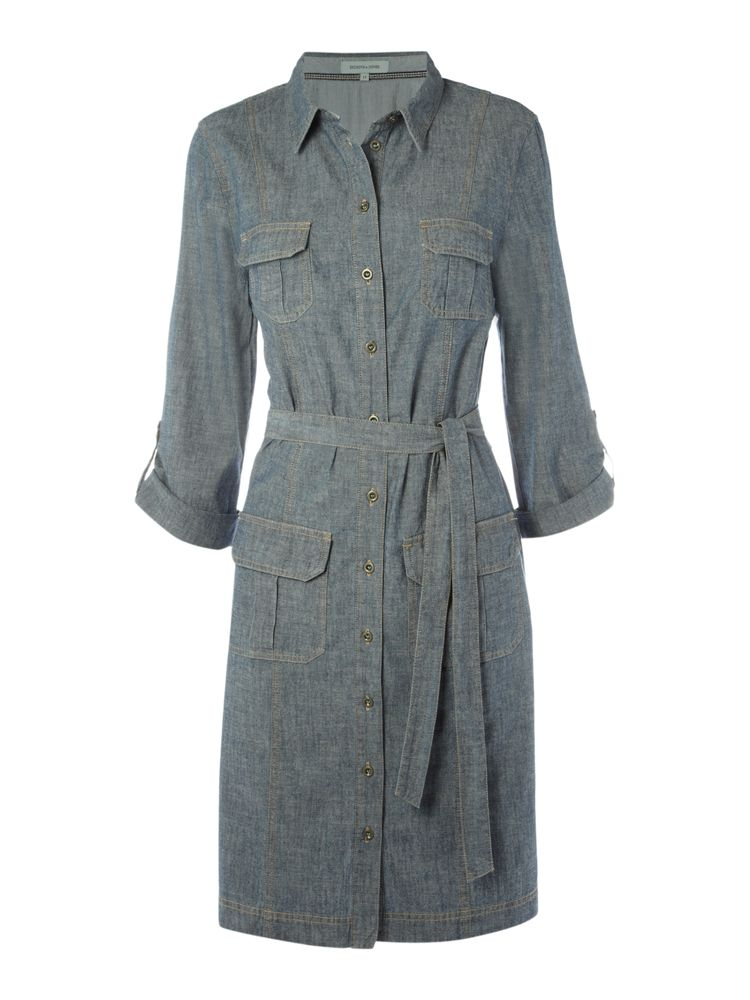 Dickins-Jones-Utility-Chambray-Dress-In-Blue