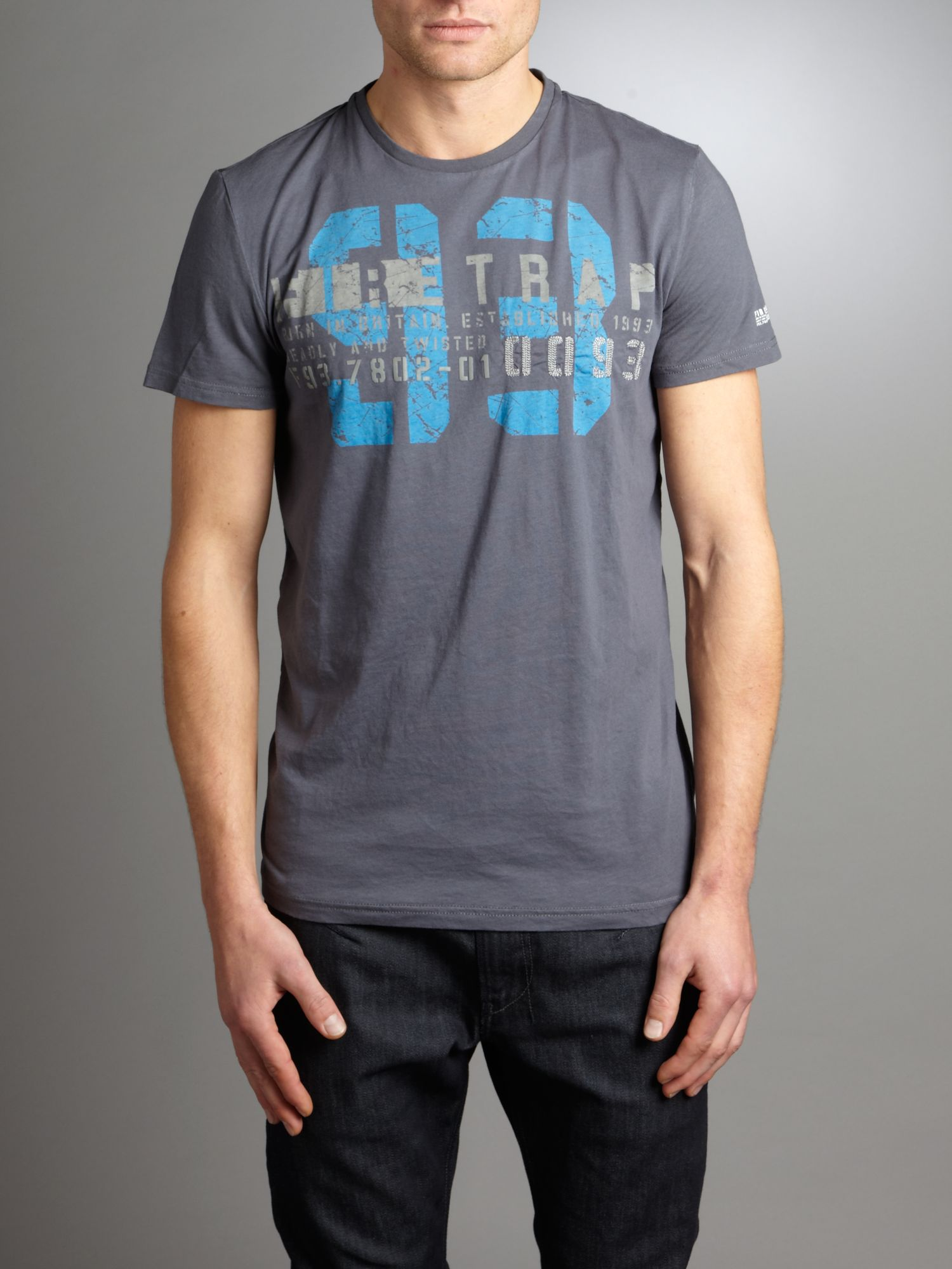 Firetrap Numbers logo t-shirt - Grey S,S product image
