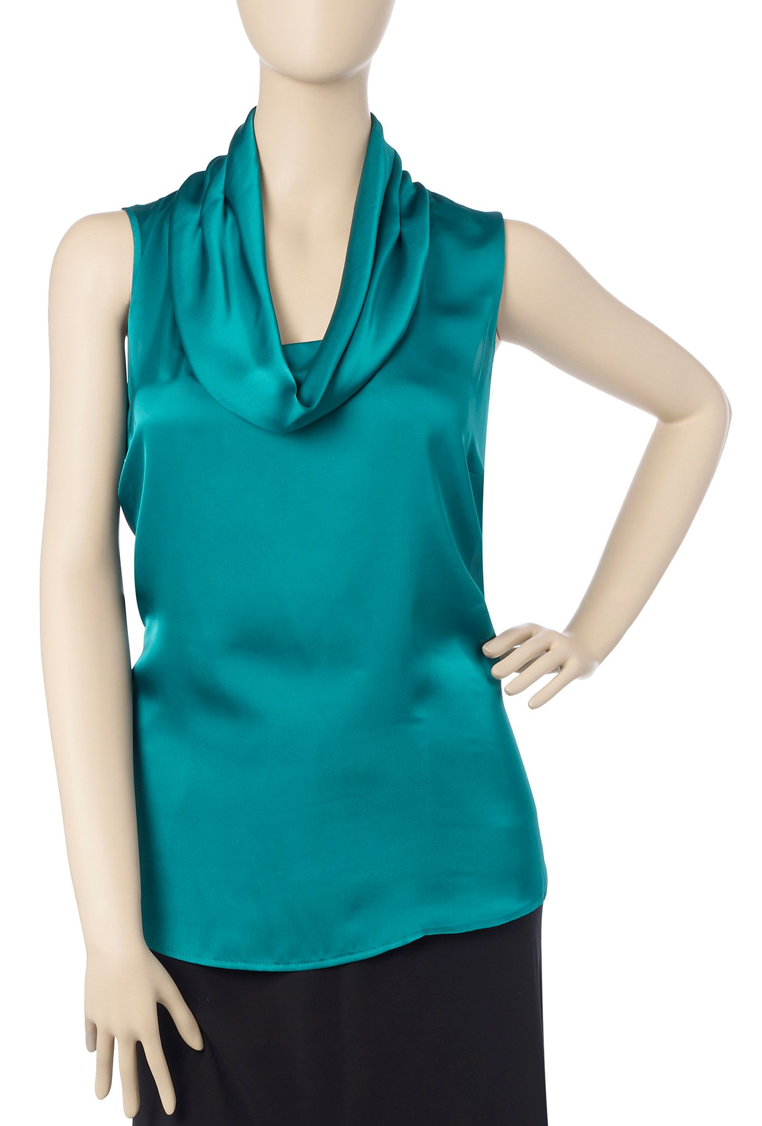 Ann Harvey Cowl neck blouse Teal product image