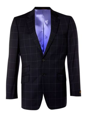 Simon Carter Single breasted notch window check jacket