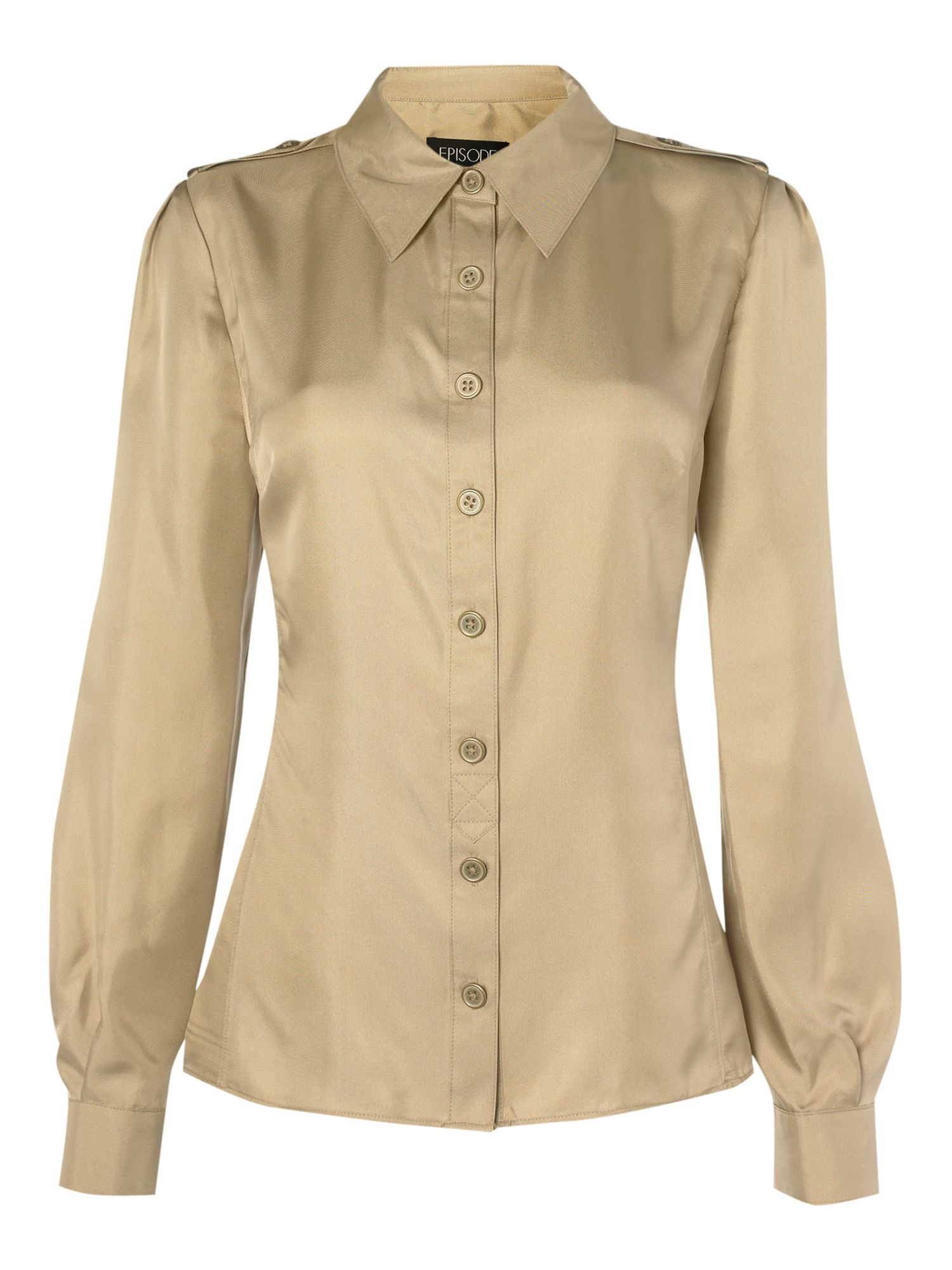 Episode Long sleeve military blouse - Sand 10,18,14 product image