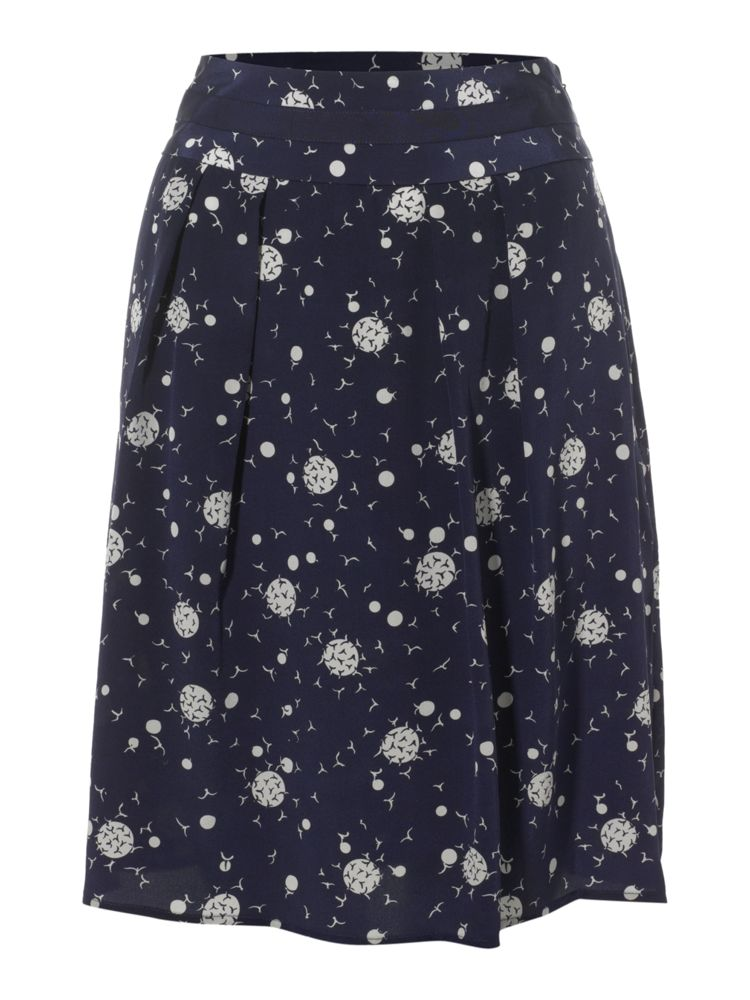 Dickins-Jones-Bird-Print-Silk-Skirt-In-Navy