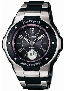 G-ms Baby-G Ladies Black Tone Watch