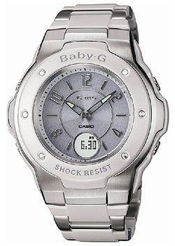 G-ms Baby-G Ladies White Tone Watch