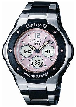 G-ms Baby-G Ladies Pink and Black Watch