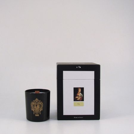 Cereria Terenzi Lady black glass, fig scented candle
