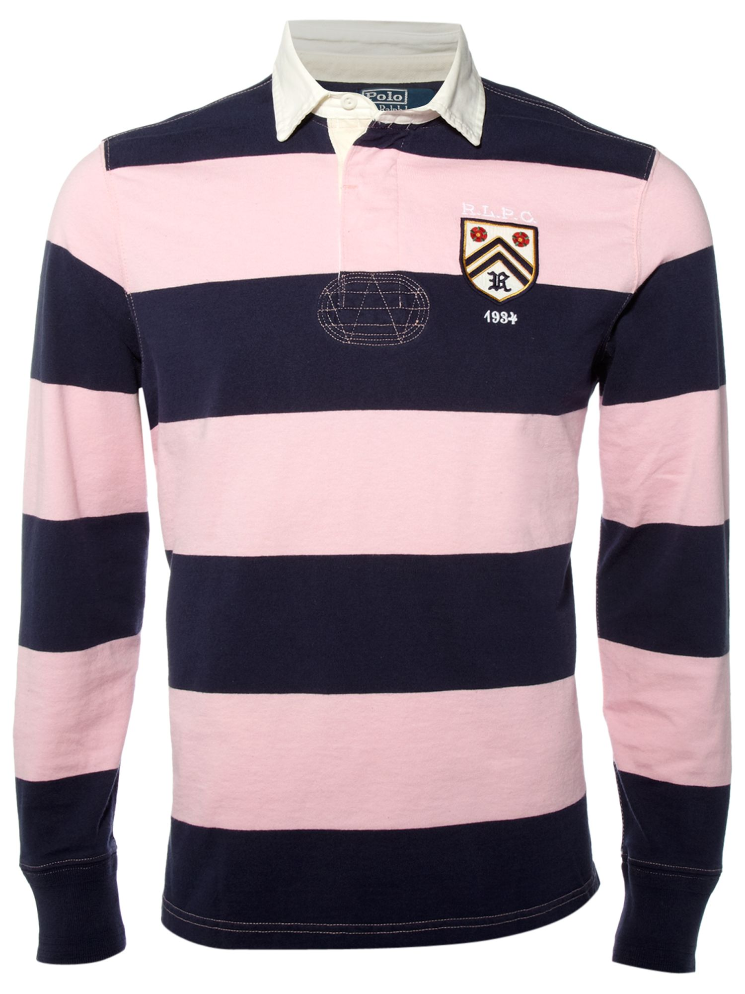 Ralph lauren rugby shirts for Pink and purple striped rugby shirt