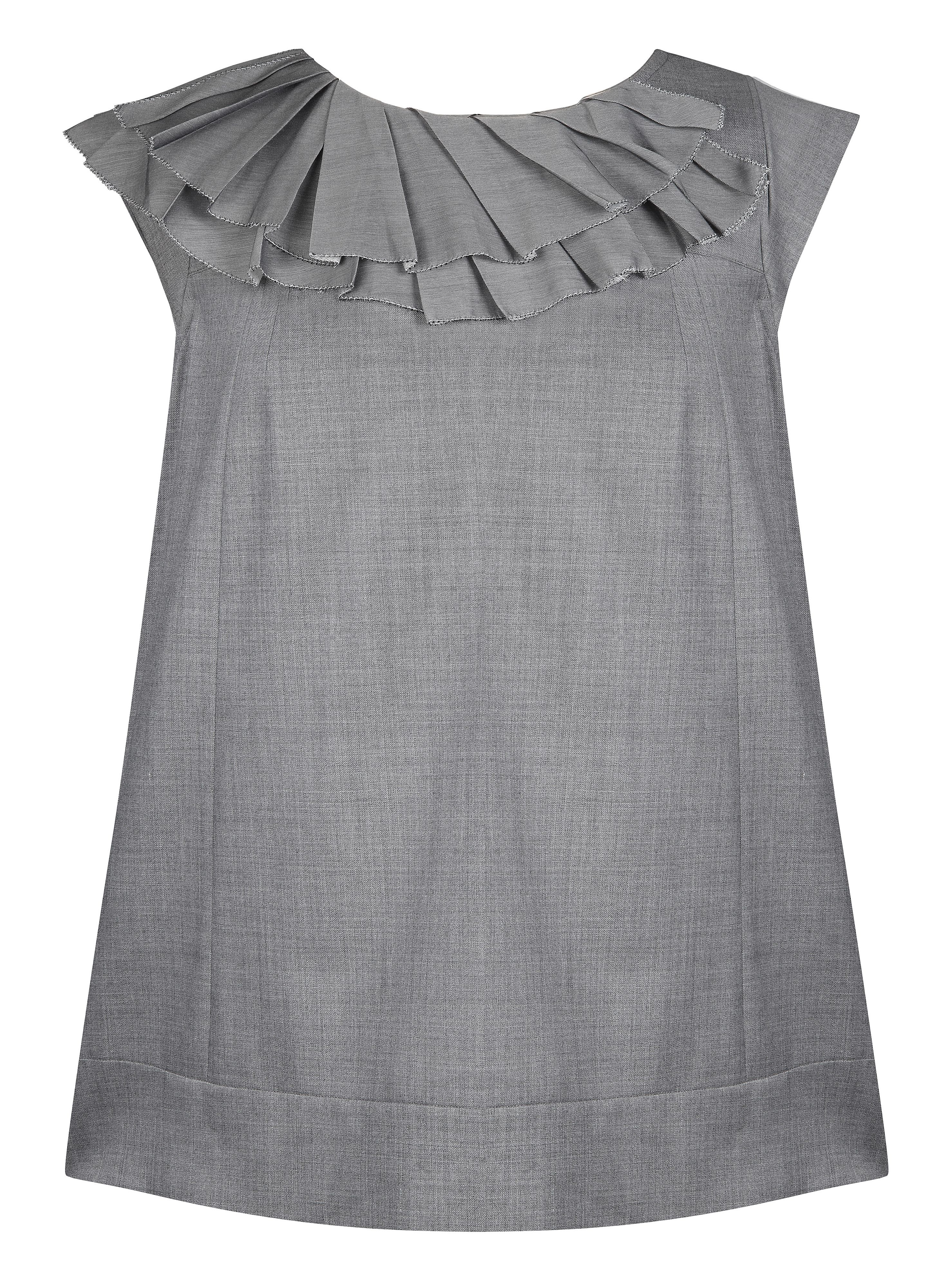 Jesire Cap sleeve ruffle collar blouse Urban grey product image