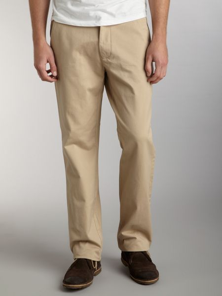 Flat front chino trouser