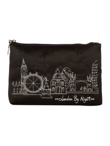 Top zips london by night cosmetic purse