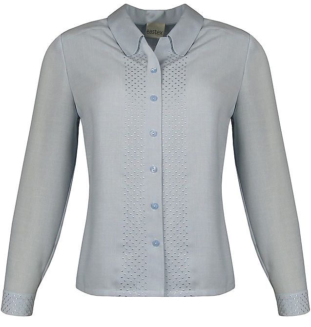 Eastex Long sleeve trellis blouse Light Blue product image