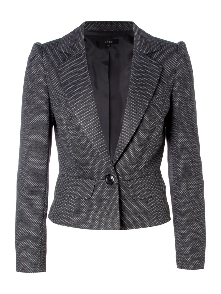 Linea-Spot-Ponte-Jacquard-Jacket-In-Grey-From-House-of-Fraser