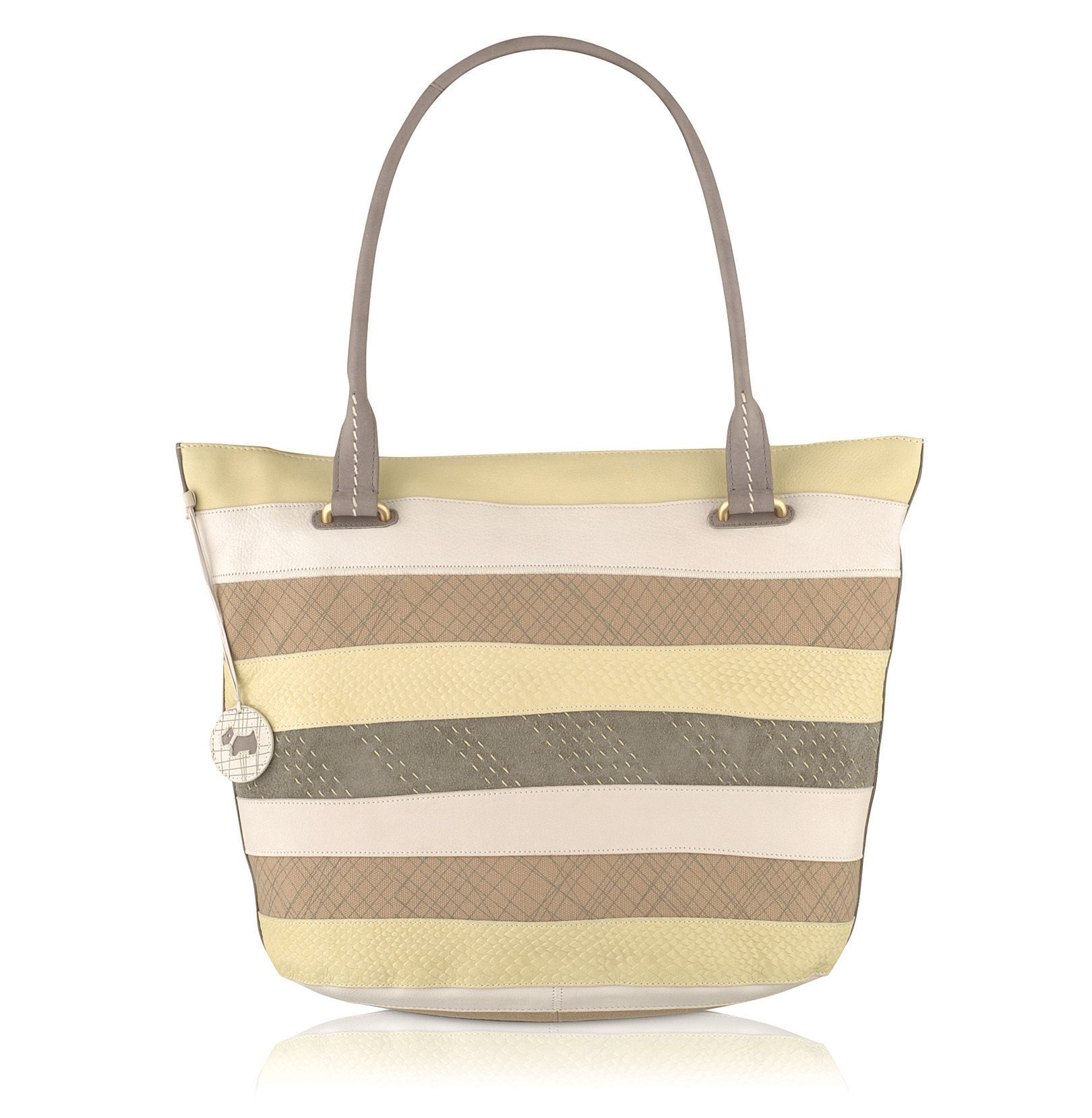 Putney stripe canvas e/w tote bag
