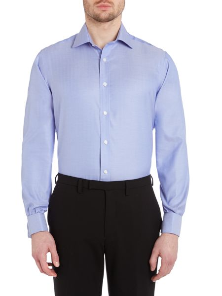 TM Lewin Herringbone non-iron slim fit shirt