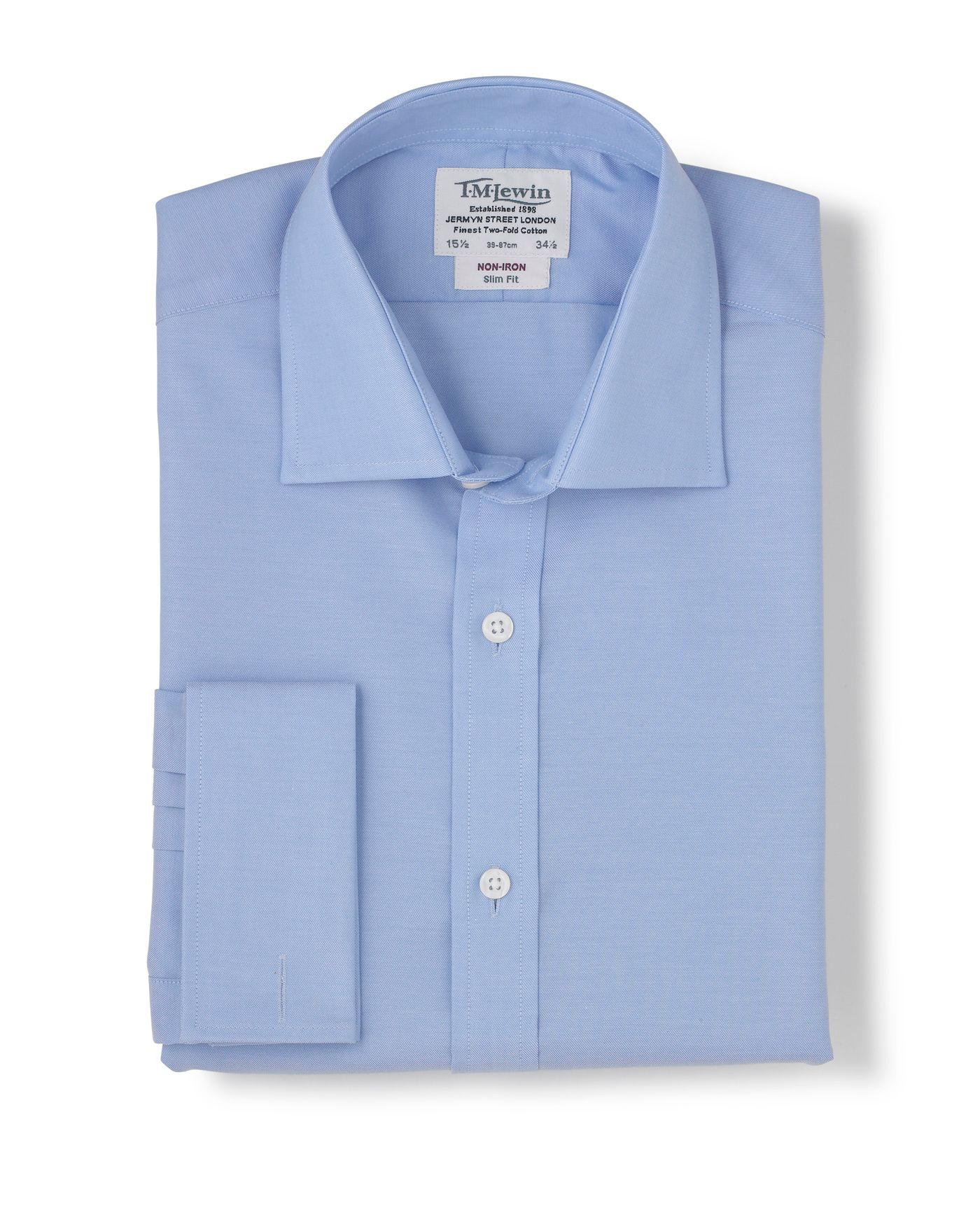 Blue non-iron shirt