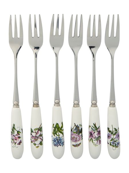 Portmeirion Botanic Garden Pastry Fork set of 6