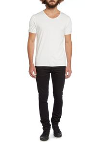 Label Lab Band Pigment Jersey Scoop Neck T-Shirt