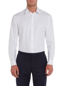 Formal double cuff plain shirt