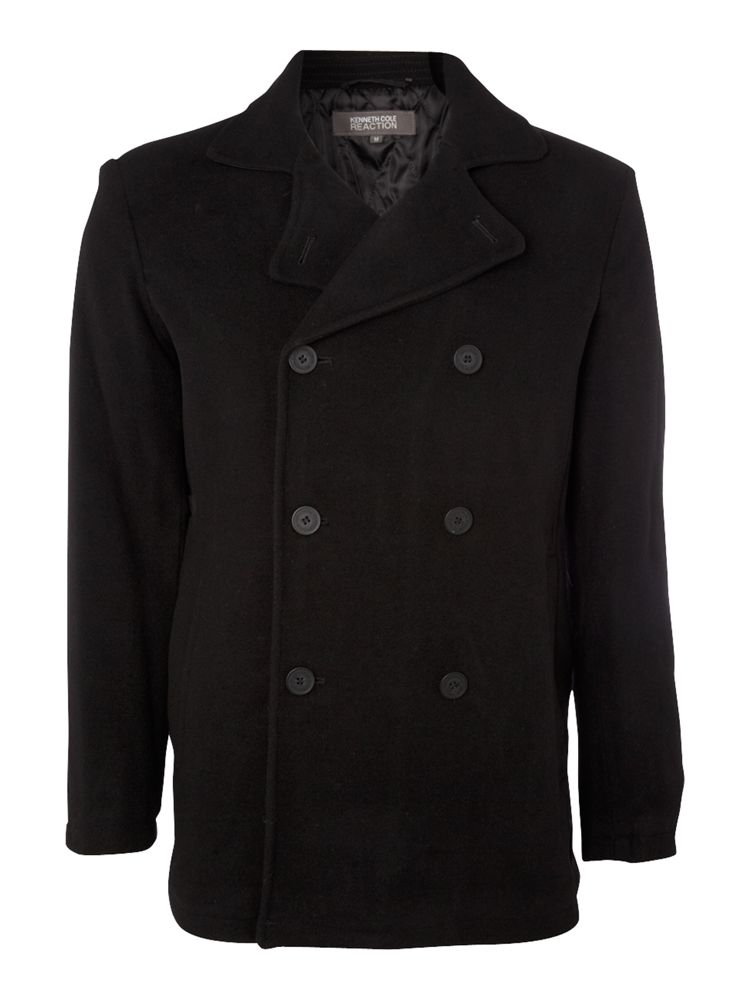 Kenneth-Cole-Wool-Plush-Peacoat-In-Black