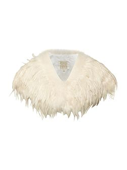 Marabou and feather cape