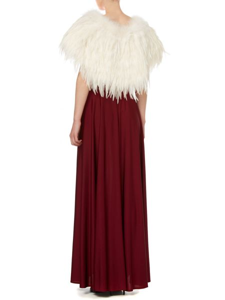 Biba Marabou and feather cape