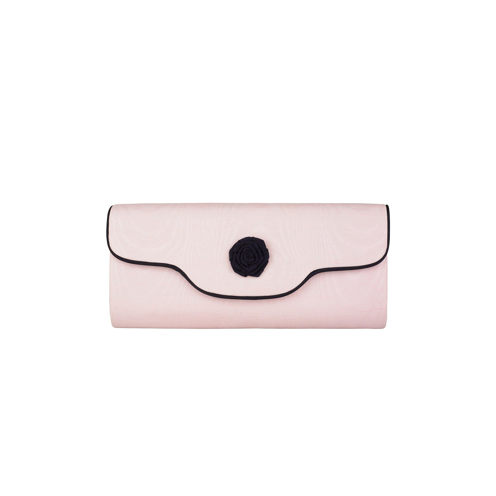 Jacques Vert Shell pink moire clutch bag product image