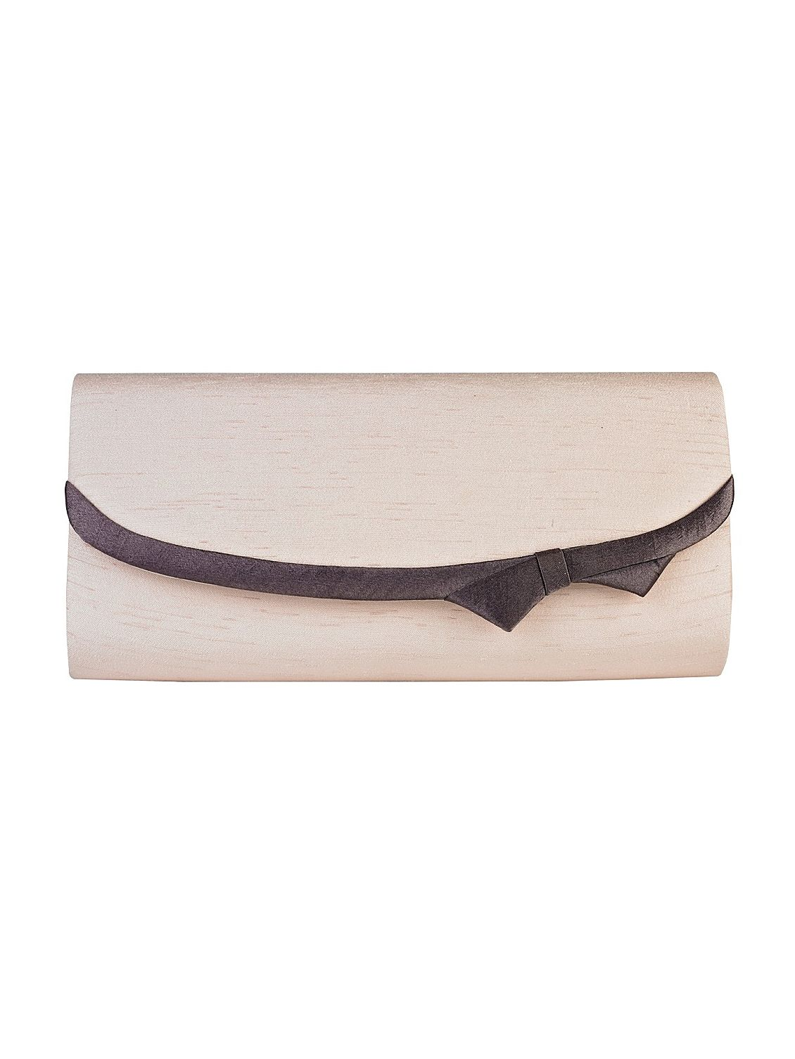 Jacques Vert Cashew shantung clutch bag Brown product image