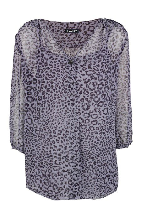 Planet Womens Planet Animal print silk blouse, product image
