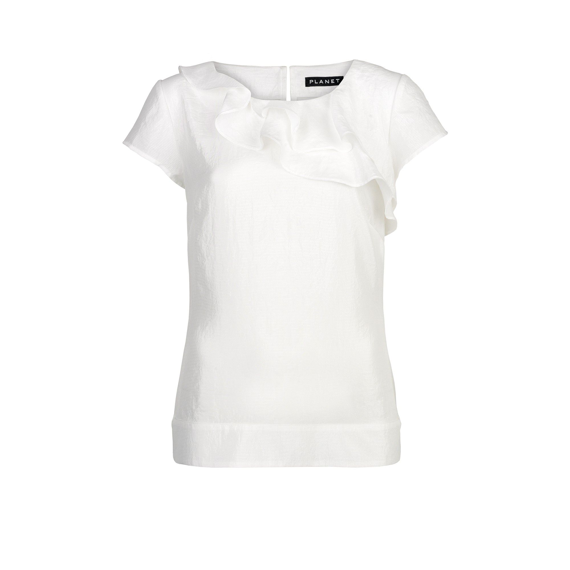 Planet Frill front blouse - Ivory product image