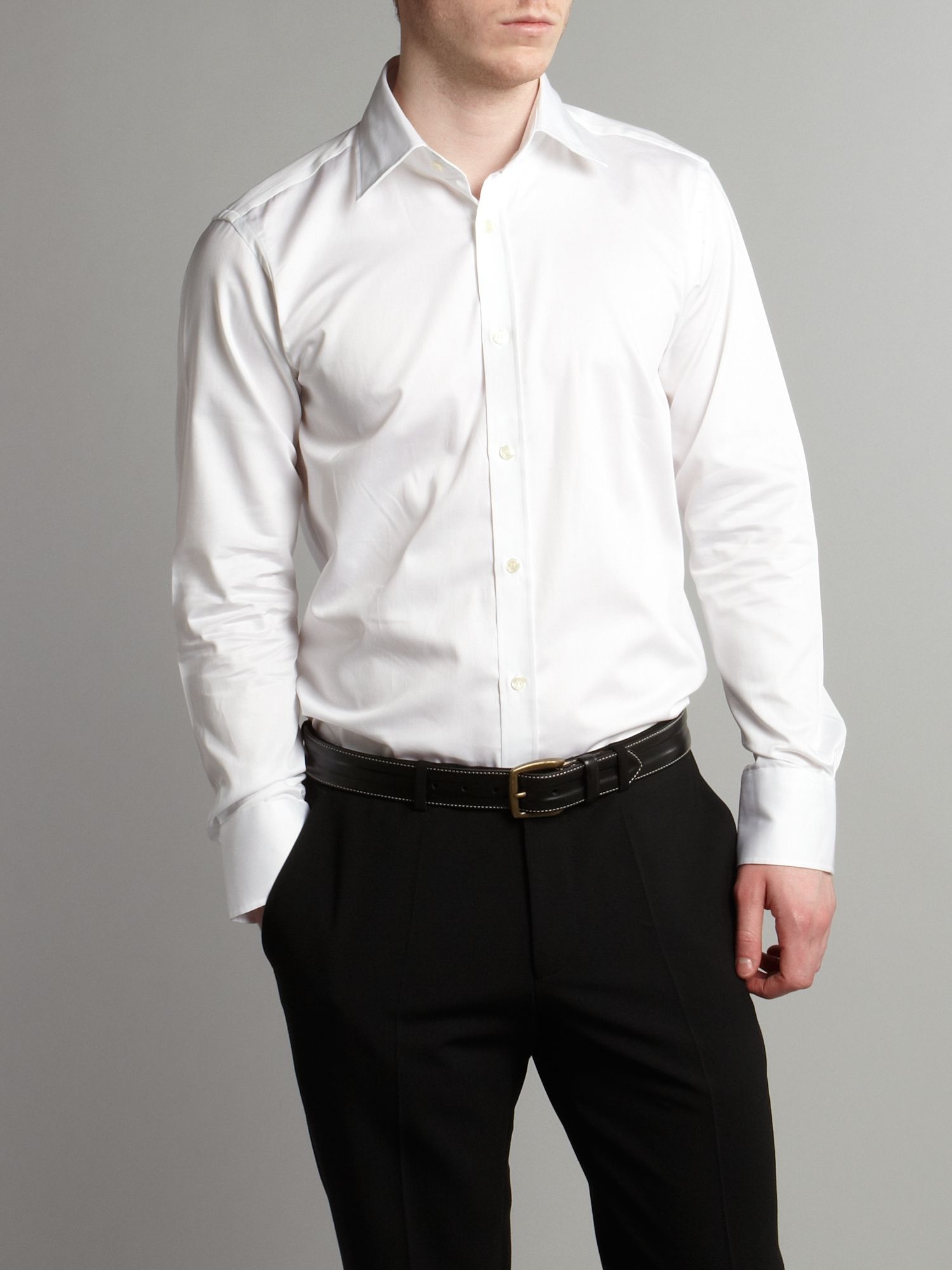 Plain endurance poplin shirt