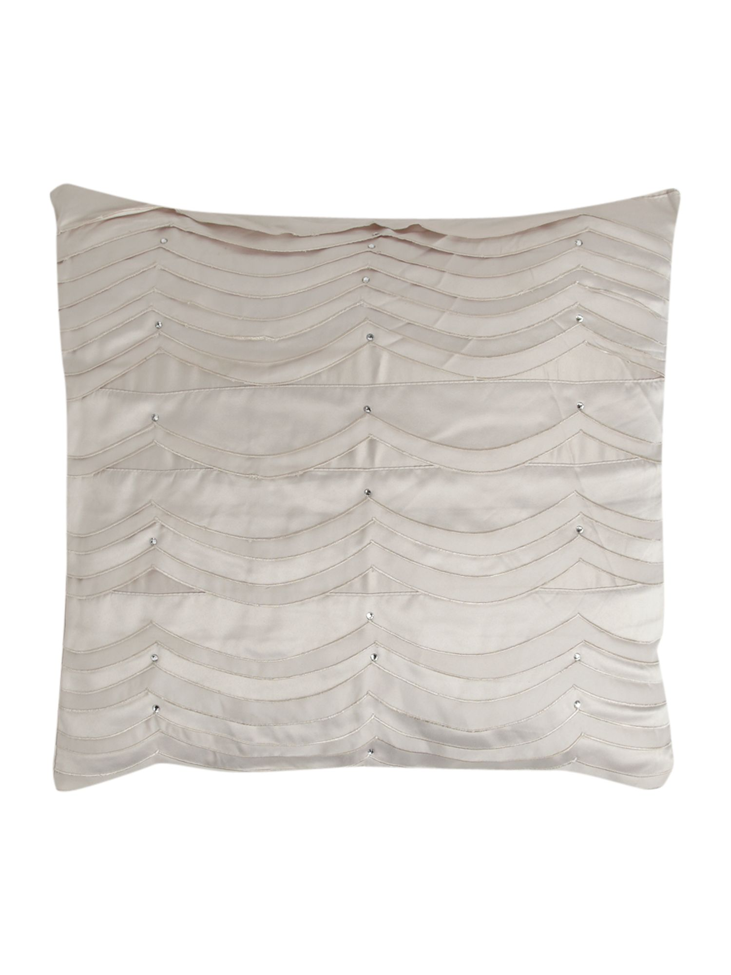 Scallop Edge square cushion