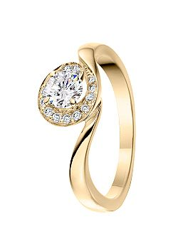 Signature 18ct Gold 0.25ct Diamond Pave Set Ring - Gold