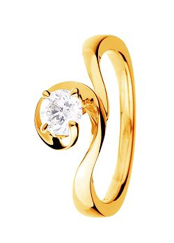 Signature 9ct Gold 0.20ct Solitaire Diamond Ring - Gold