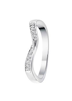 Signature 9ct Gold 0.10ct Diamond Eternity Ring - White Gold
