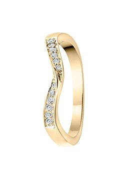 Goldsmiths Signature 9ct Gold 0.10ct Diamond Eternity Ring, Gold