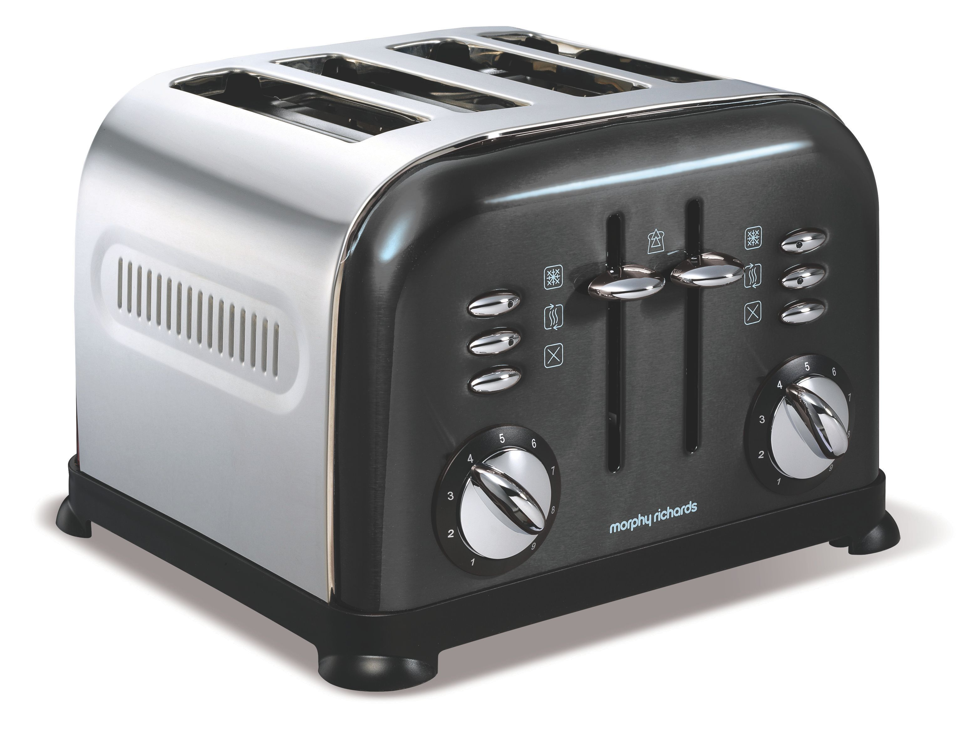 Accents 4-Slice Toaster Black 44733