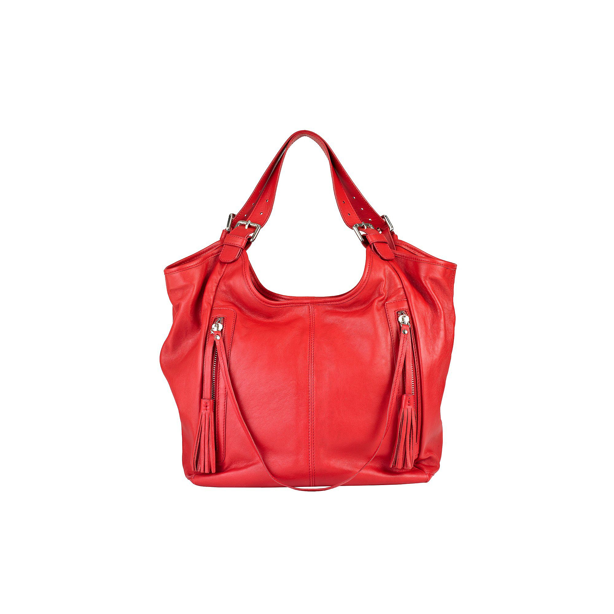 Tassel front shopper bag Red