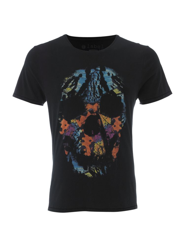 Label-Lab-Butterfly-Skull-Graphic-Tee-In-Black