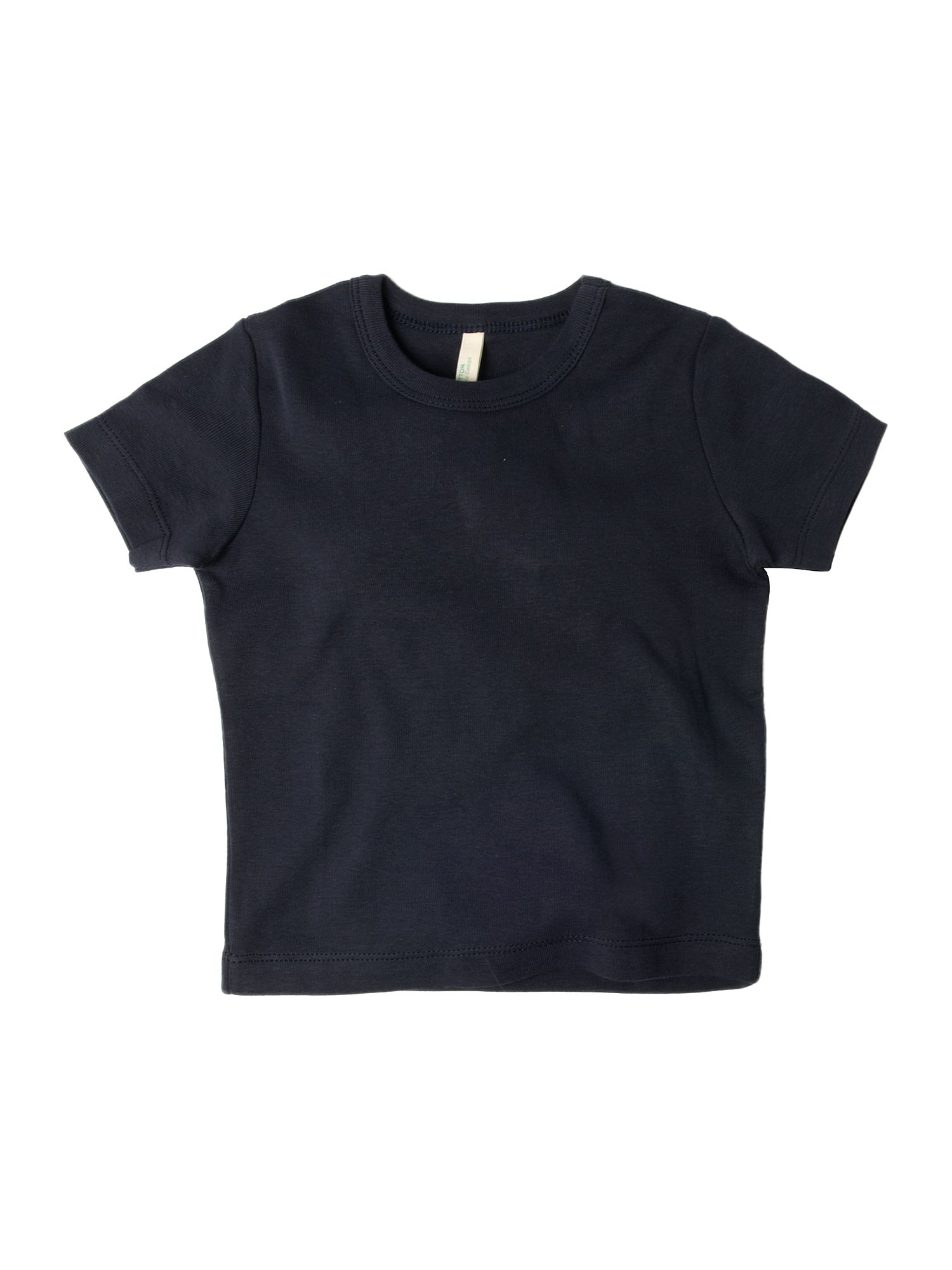 Benetton Short-sleeved logo crew neck T-shirt Navy product image