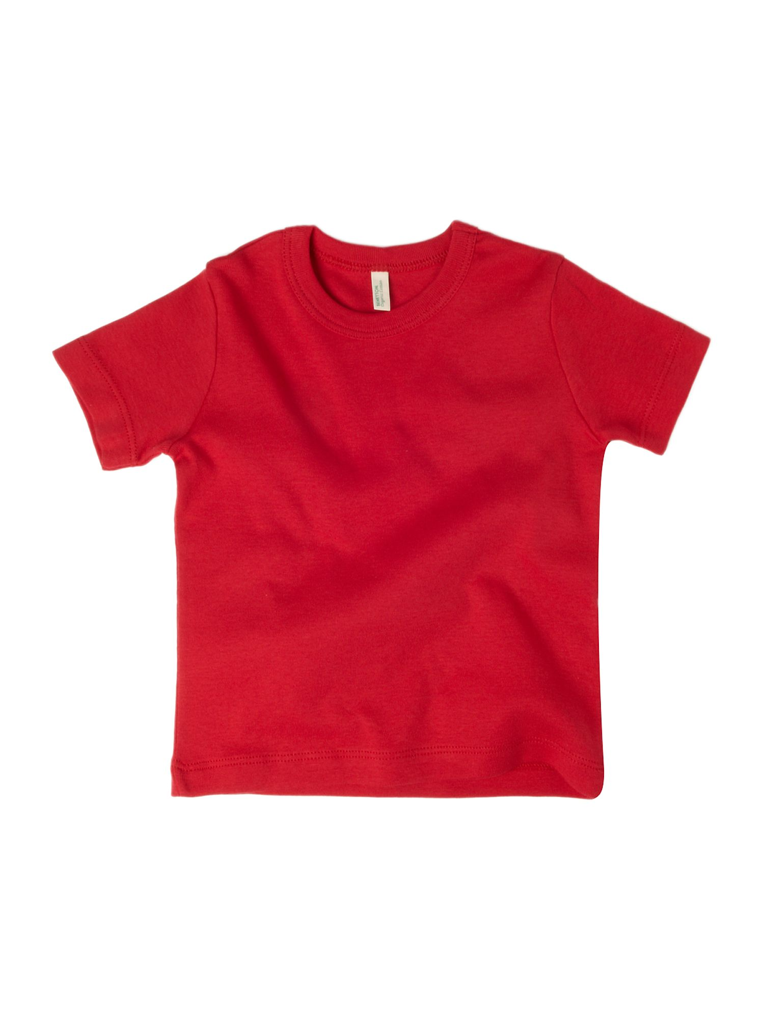 Benetton Short-sleeved logo crew neck T-shirt Red product image
