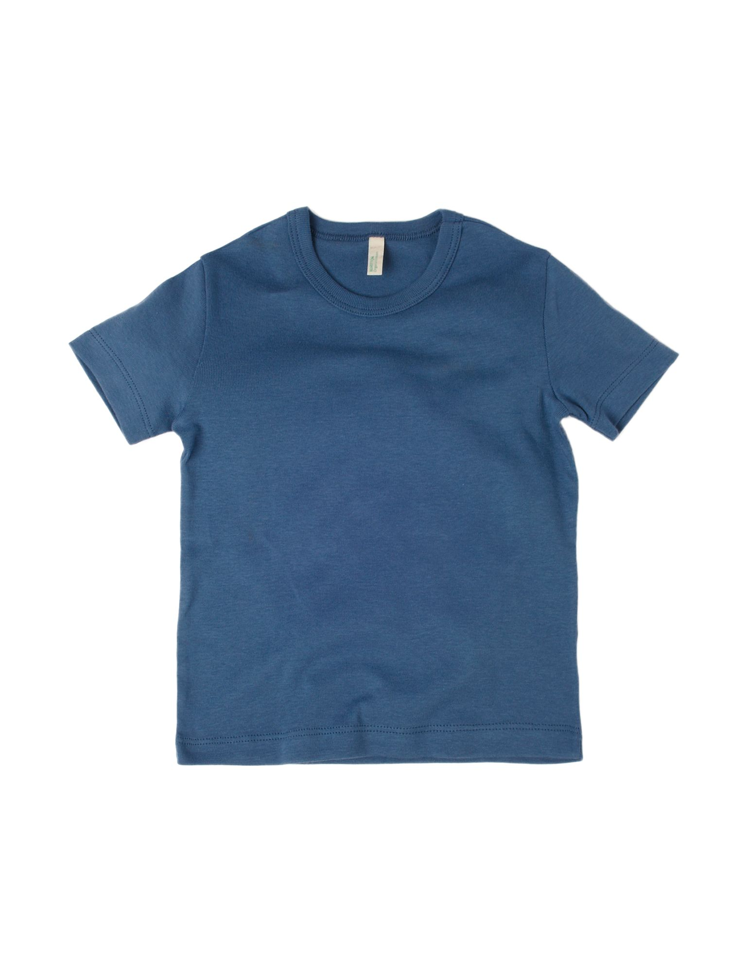 Benetton Short-sleeved logo crew neck T-shirt Blue product image