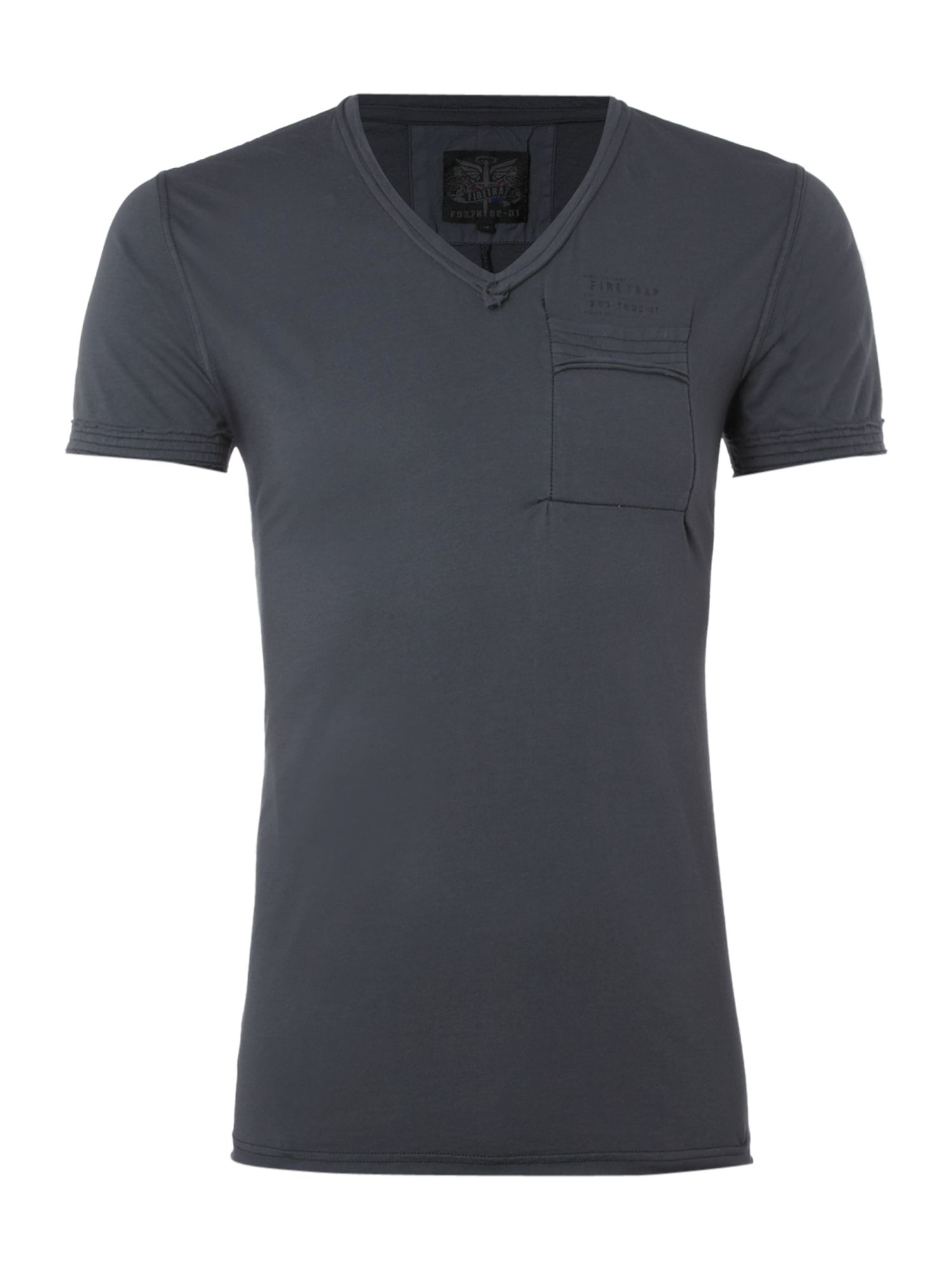 Firetrap V-neck chest pocket T-shirt, Ink