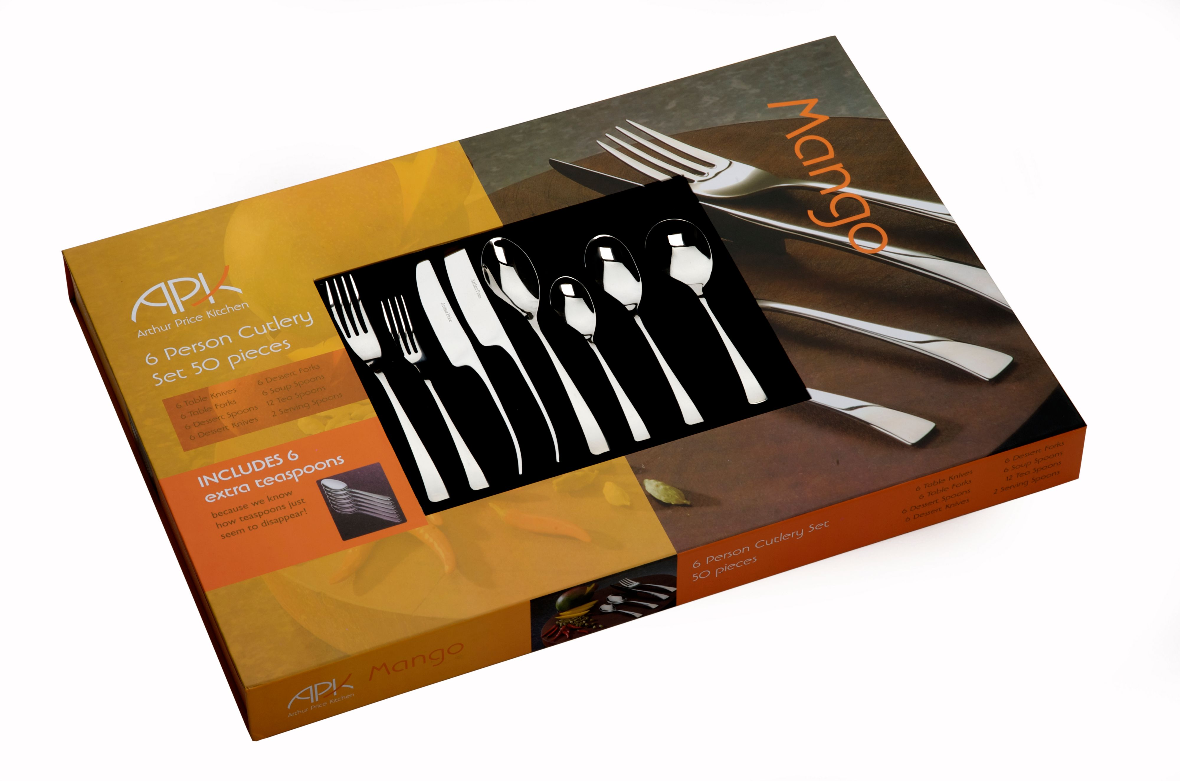 50 piece 6 person cutlery boxed set
