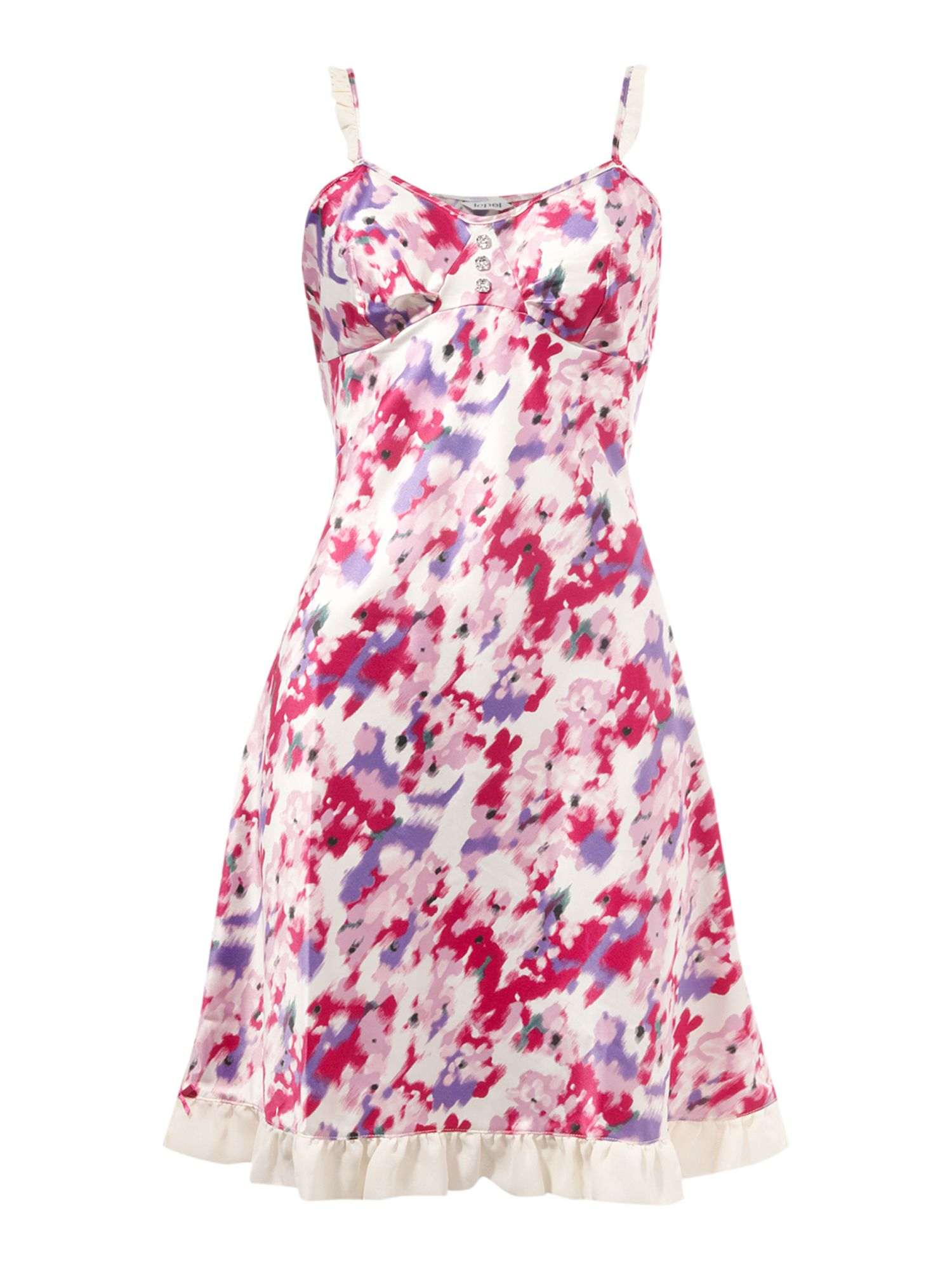 Lepel Kelly satin print chemise - Pink product image