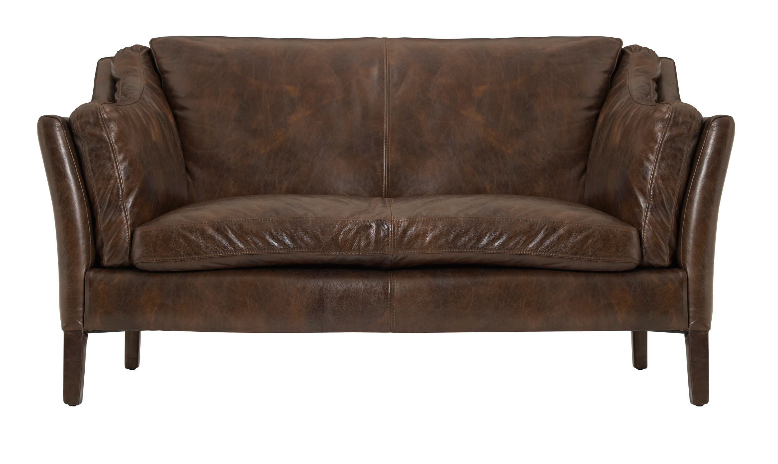 Reggio high back 2 seater sofa cocoa