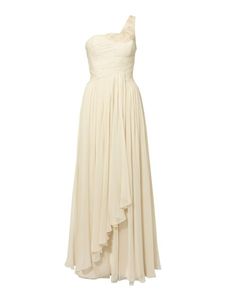 Biba Chloe one shoulder beaded maxi bridal gown