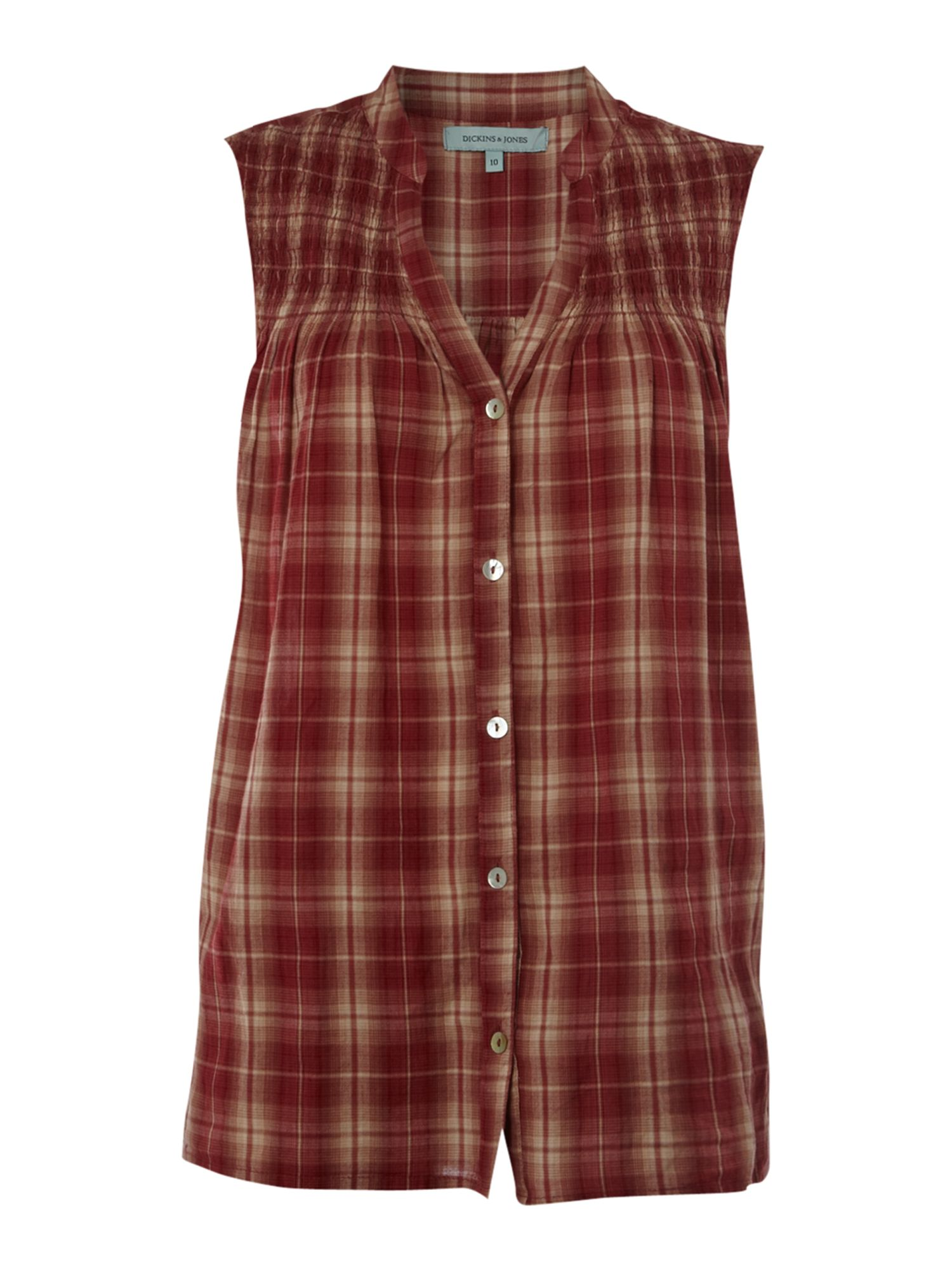 Dickins & Jones Blouse madras smock - Red product image