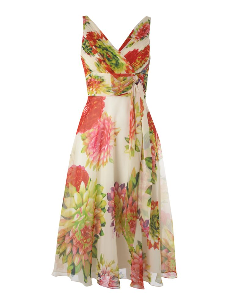 Linea-Floral-Print-Dress-In-Multi-Coloured