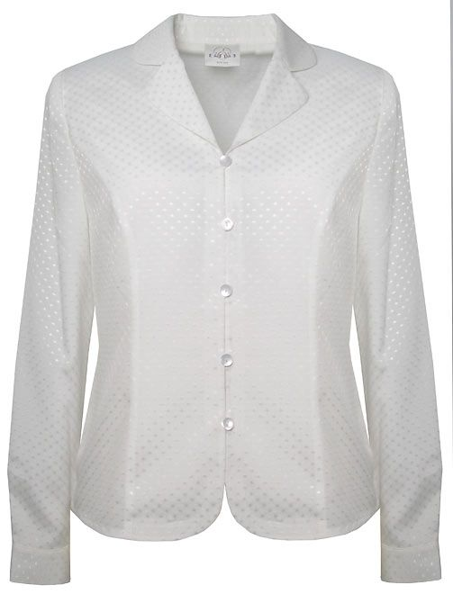 Eastex Long sleeve rever collar blouse - Ivory 18 product image